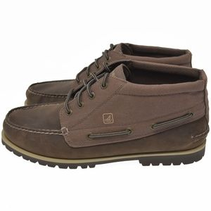 Sperry Sz 12M Brown Leather / Canvas Chukka Boots